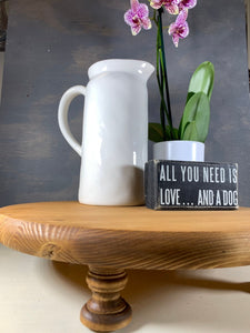 Farmhouse Decor Stand - Round Riser