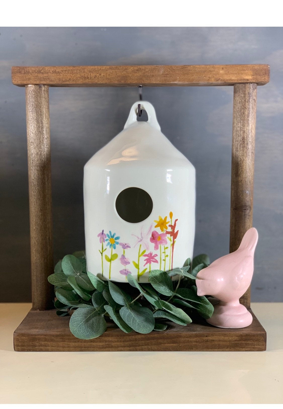 Farmhouse Birdhouse Display Stand