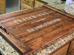 Kitchen Definition Noodle Board - Stove Cover - Farmhouse Decor