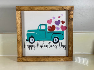 Valentine's Wood Sign - Old Truck