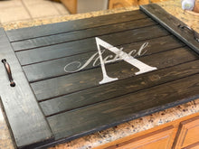 Load image into Gallery viewer, Monogram Noodle Board -  Flat Stove Cover - Farmhouse Decor
