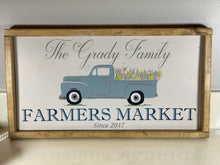 Load image into Gallery viewer, Farmers Market Spring Truck Sign - Personalized