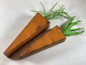 Wood Carrots - Spring Decor - Set of 3