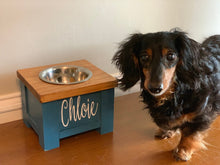 Load image into Gallery viewer, Personalized Dog Bowl Stand - Single Bowl