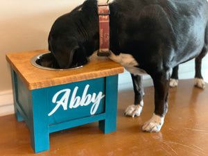 Personalized Dog Bowl Stand - Single Bowl