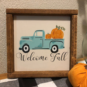 Welcome Fall with Old Truck