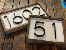 Load image into Gallery viewer, Wood Address Sign - Custom Farmhouse Style Sign