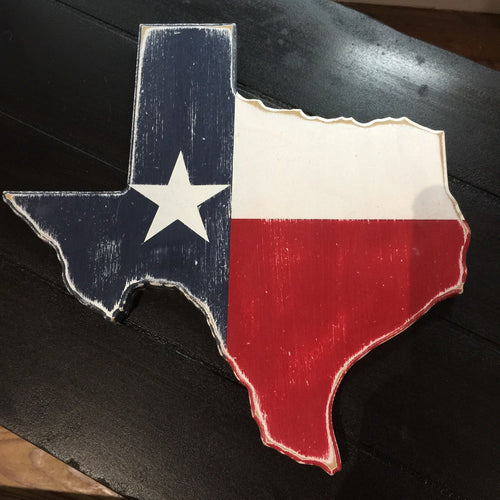 Texas Flag Wooden Sign