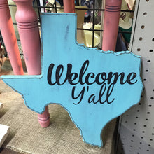 Load image into Gallery viewer, Welcome Y'all Wooden Texas Decor