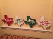 Load image into Gallery viewer, Merry Christmas Y'all Texas Decor