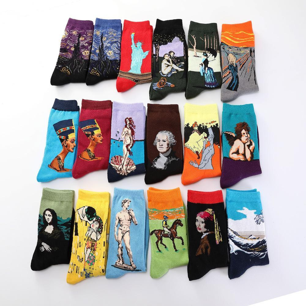 🔥HOT SALE🔥Famous Painting Colorful Fancy Cotton Crew Socks