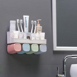 🔥60% OFF🔥Multi-function Toothpaste Toothbrush Storage Rack