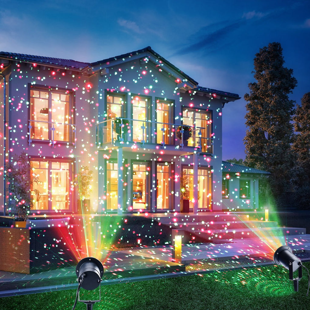 12 Designs Christmas Laser Lights