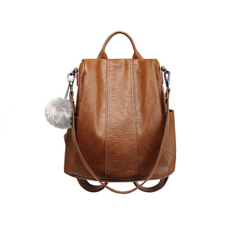 🔥BUY 2 GET FREE SHIPPING & 10% OFF🔥Soft Genuine Leather Tote Casual Backpack