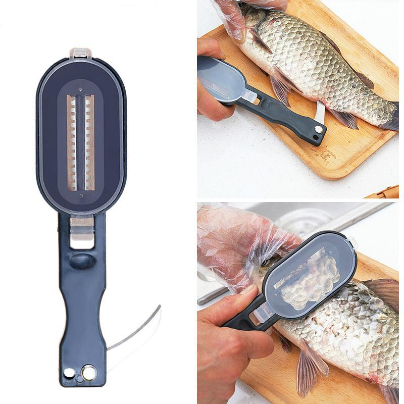 Fish Skin Scale Scraper Planer Tool With Small Knife