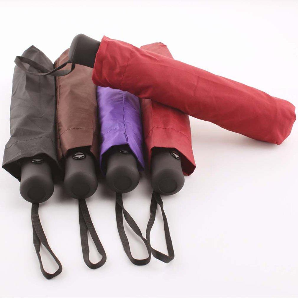 Windproof 3 Fold Fully Automatic Umbrella for 2 Person (Random Color)