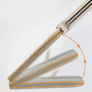 🔥ON SALE🔥Self-Wringing Double Sided Flat Mop Cleaning Tool