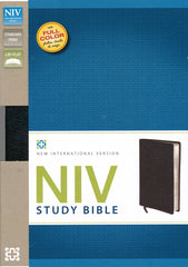 Zondervan NIV Study Bible Personal Size Bonded Black Leather