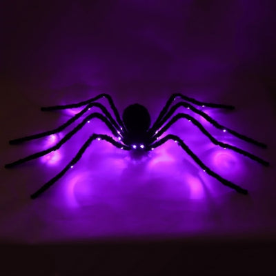 LED Light Up Artificial Plush Spider