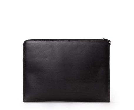 Load image into Gallery viewer, 13 INCH LAPTOP CASE No. 467 | BLACK LEATHER