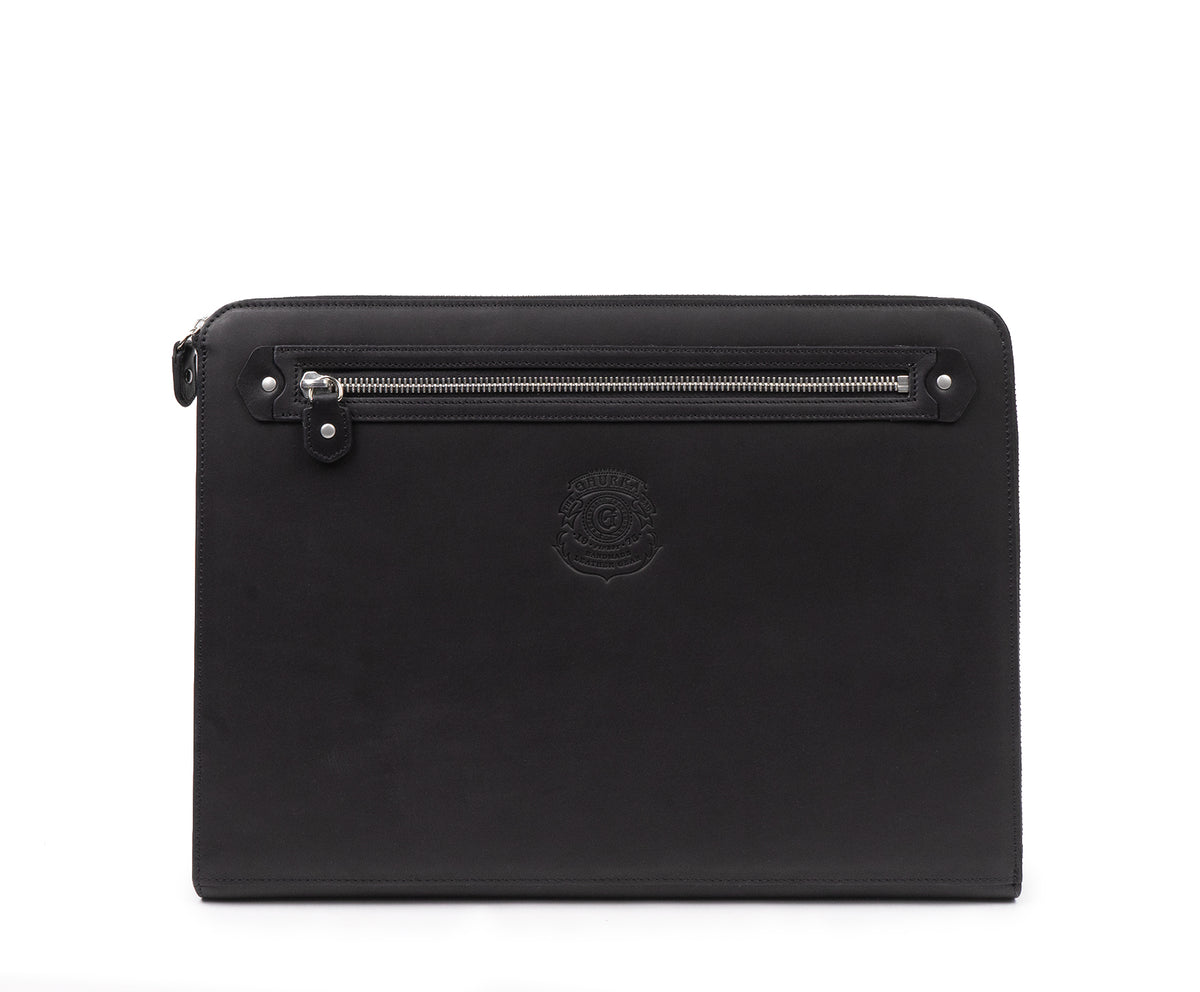 13 Inch Laptop Case No. 467 | Black Leather