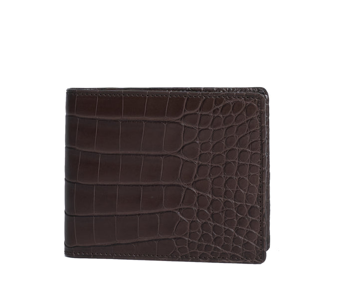 Classic Wallet No. 101 | Walnut Alligator