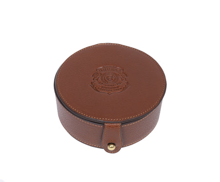 COASTER SET No. 247 | VINTAGE CHESTNUT LEATHER