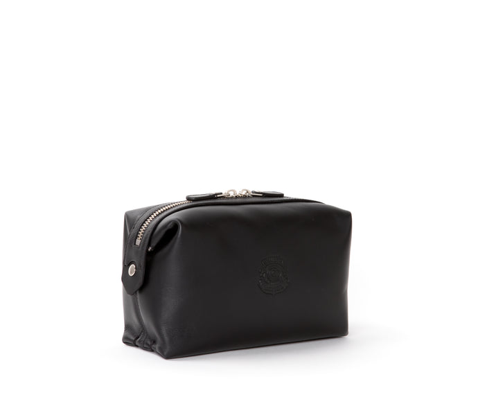 Cosmetic Case No. 308 | Black Leather