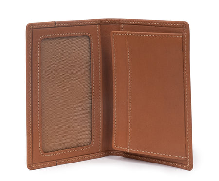 CREDIT CARD WINDOW WALLET No. 202 | CHESTNUT LEATHER