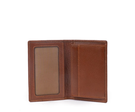 Load image into Gallery viewer, Credit Card Window Wallet No. 202 | Vintage Chestnut Leather