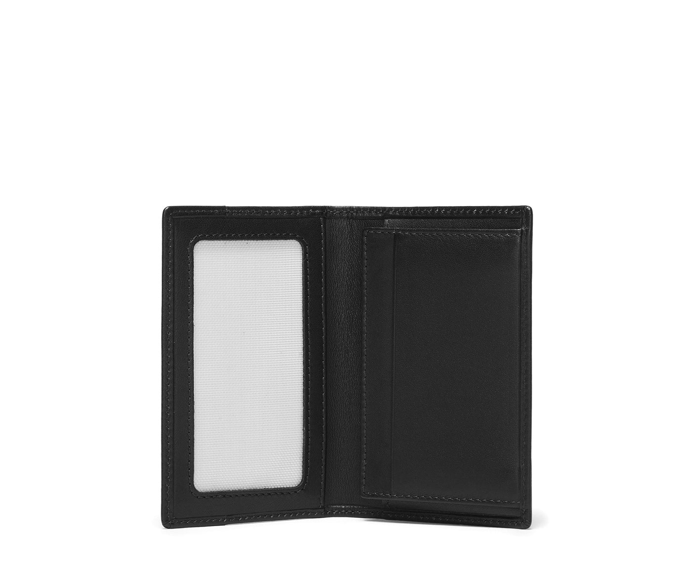 Credit Card Window Wallet No. 202 | Black Leather