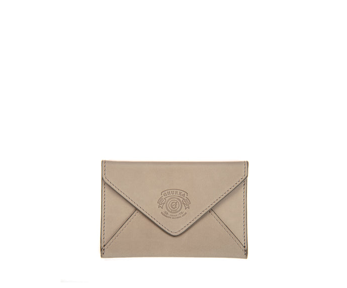 Envelope Card Case | Sand Leather