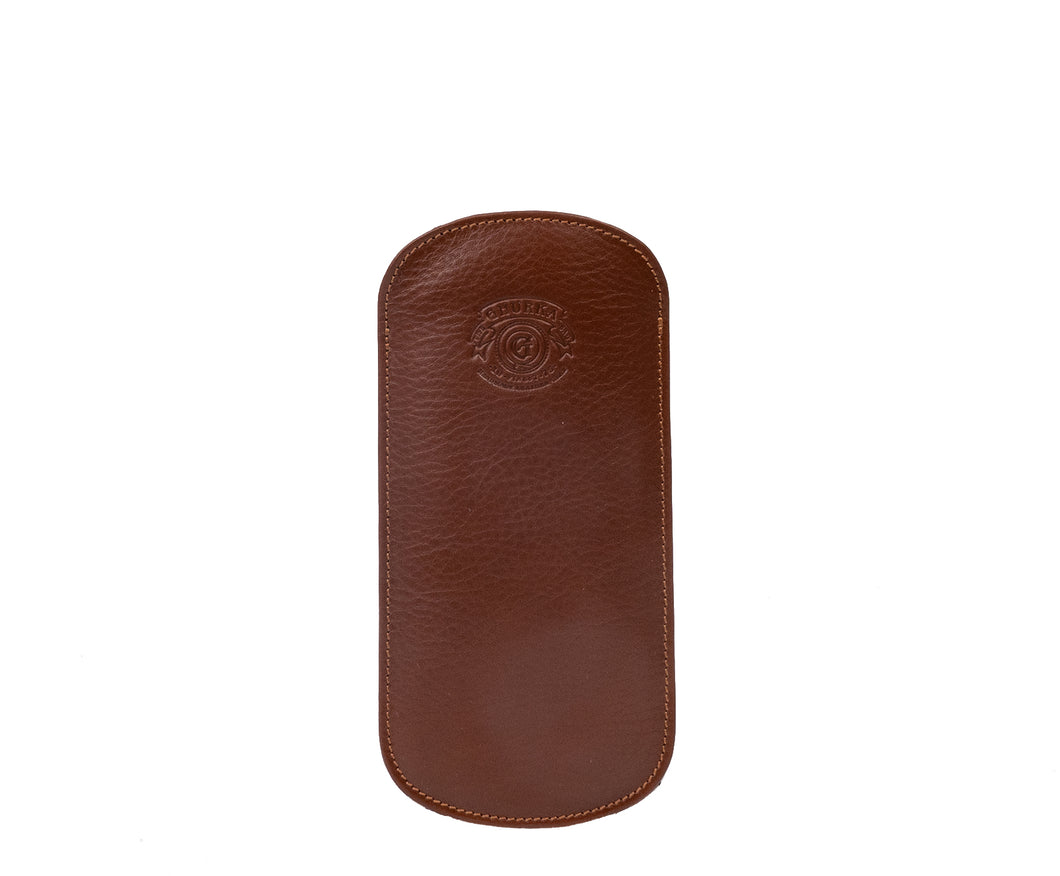 EYEGLASS CASE No. 196 | VINTAGE CHESTNUT LEATHER