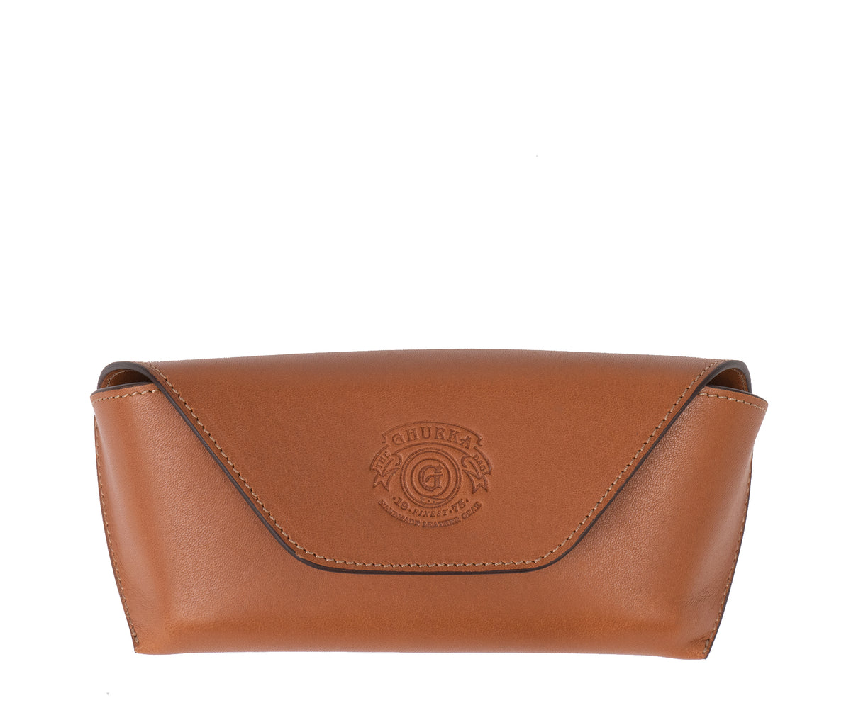 Hard Sunglass Case No. 251 | Chestnut Leather
