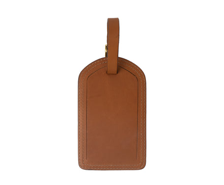 Load image into Gallery viewer, Luggage Tag No. 100 | Chestnut Leather