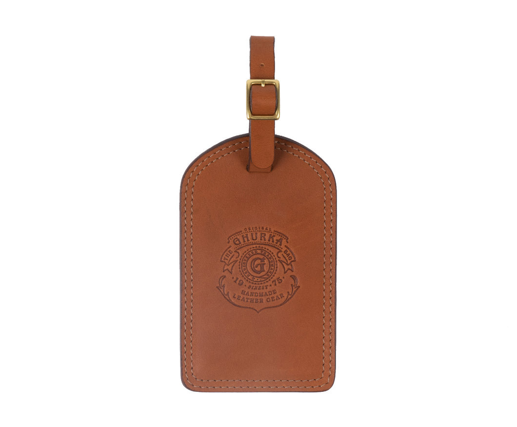 LUGGAGE TAG No. 100 | CHESTNUT LEATHER