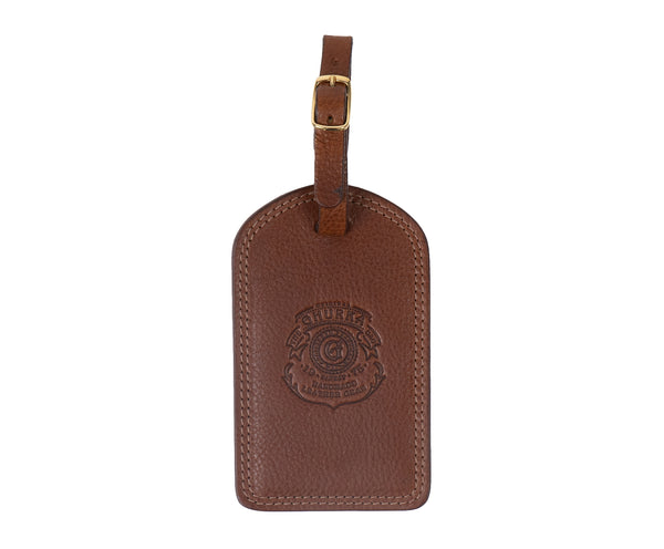 Luggage Tag No. 100 | Vintage Chestnut Leather