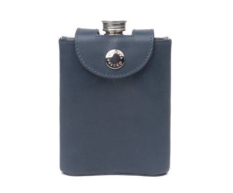 Load image into Gallery viewer, PEWTER FLASK No. 220 | ECLIPSE LEATHER