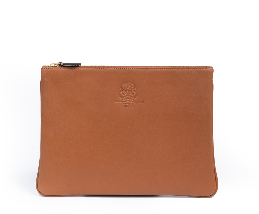 POUCH II NO. 64 | CHESTNUT LEATHER