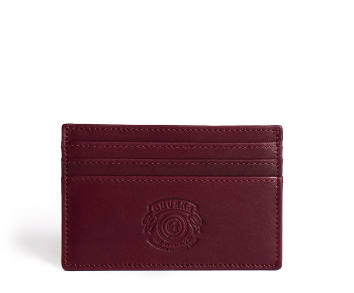 SLIM CREDIT CARD CASE No. 204 | BORDEAUX LEATHER