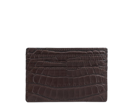 Load image into Gallery viewer, SLIM CREDIT CARD CASE NO. 204 | WALNUT ALLIGATOR