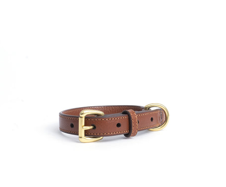 Load image into Gallery viewer, Small Dog Collar No. 240 | Vintage Chestnut Leather