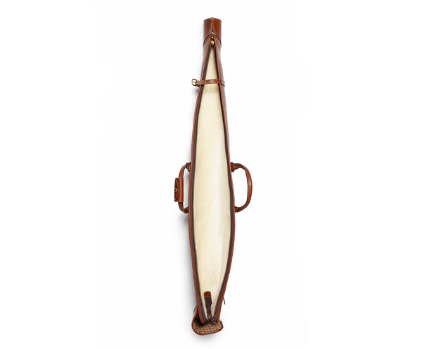 Marksman No. 266 Gun Case | Vintage Chestnut Leather