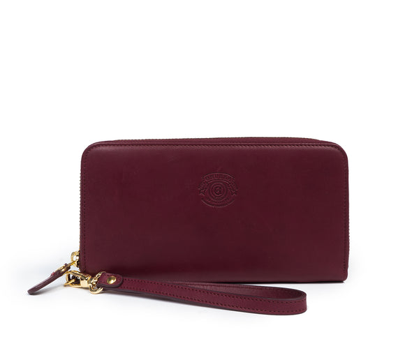 Zip Clutch Wallet No. 211 | Bordeaux Leather