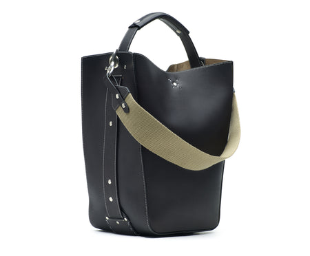 STARLING LEATHER BUCKET BAG