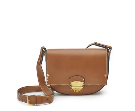MARLOW I LEATHER SADDLE BAG