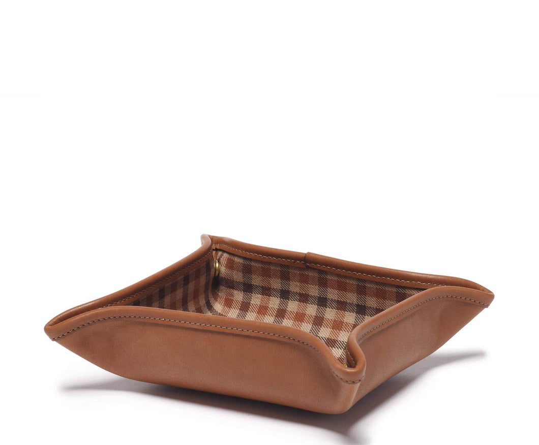 FOLDING SNAP TRAY No. 58 | CHESTNUT LEATHER