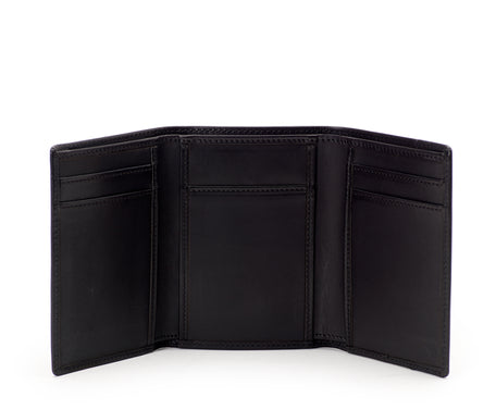 Load image into Gallery viewer, Trifold Wallet No. 118 | Black Leather