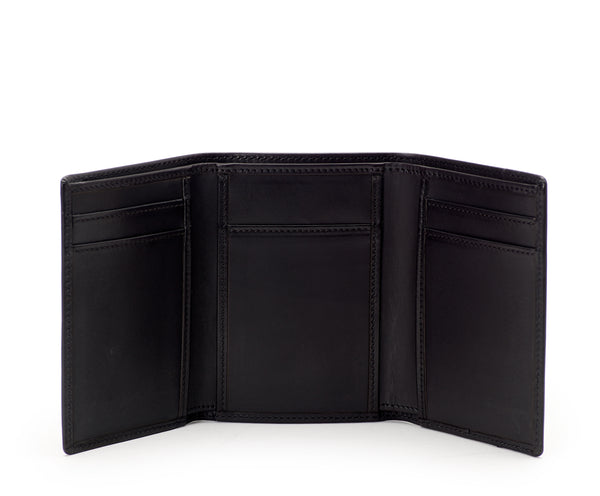 Trifold Wallet No. 118 | Black Leather