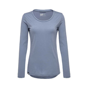 Womens Merino Long Sleeve Shirt - Blue - Made in America